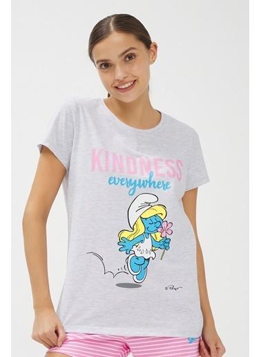 Penti Smurf Pijama Takımı Renkli